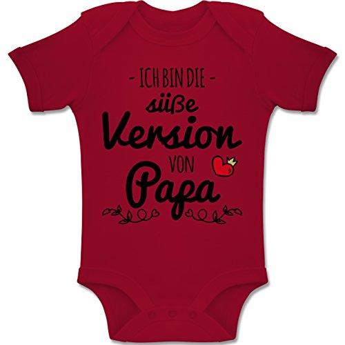 Shirtracer Sprüche Baby - Ich Bin die süße Version von Papa - 3-6 Monate - Rot - BZ10 - Baby Body Kurzarm Jungen Mädchen