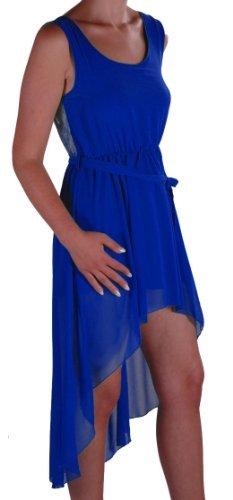 EyeCatch - Robe courte style grec dos en dentelle - Antonia - Femme - Taille unique Royal bleu