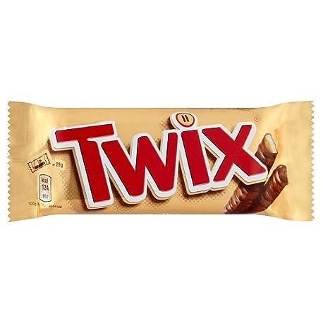Twix Barrita de galleta y caramelo cubierta de chocolate leche 50 g