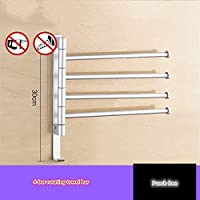 ZLDM Rotatable Activity Multi-bar Towel Rail Punch Free Space Aluminum Towel Bars Rust Proof Resistant Corrosion Towel Rack For Hotel Bathroom Kitchen Etc