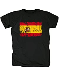 TShirt-People España Vintage Bandera Camiseta para Hombre