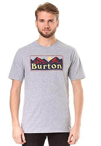 Pre-short Sleeve Graphic T-shirt (Burton Herren Ralleye Shortsleeve T-Shirt, Gray Heather, M)