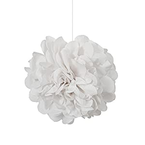 Unique Party Paquete de 3 Pompones pequeños de Papel de Seda, Color Blanco, 23 cm (64221)