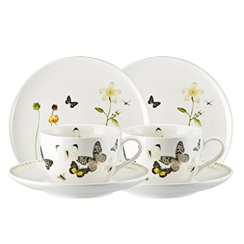 Hutschenreuther Kaffeeservice 6-tlg. Porzellan Schmetterling Größe 22 Ø