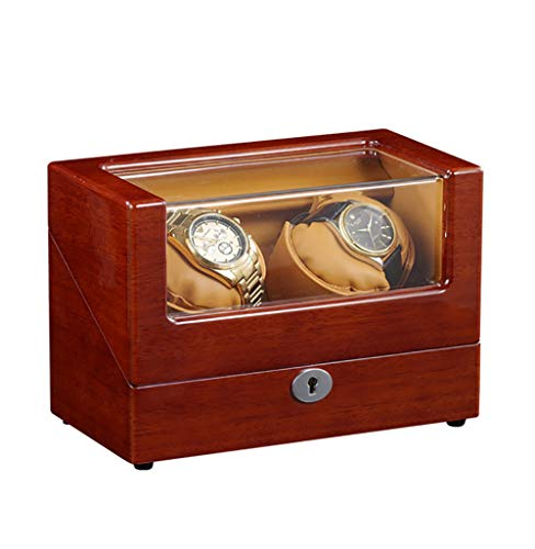 YRHG Automatik Uhrenbeweger Display Box Aufbewahrungskoffer Organizer Geschenk Super leiser japanischer Motor von Uhrenbox