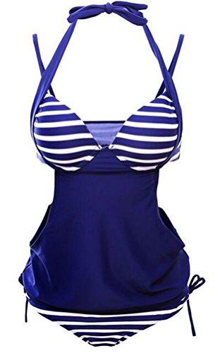 SunIfSnow Bikini - Tankini - Uni - Sans Manche - Femme Noir foncé