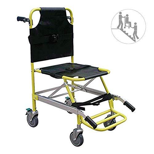 JEANN-AZCX Treppenübertragung Notevakuierung Rollstuhl Aluminium Licht Medical Lifting Stuhl für ältere Menschen, mit Quick Release Buckle (faltbar)