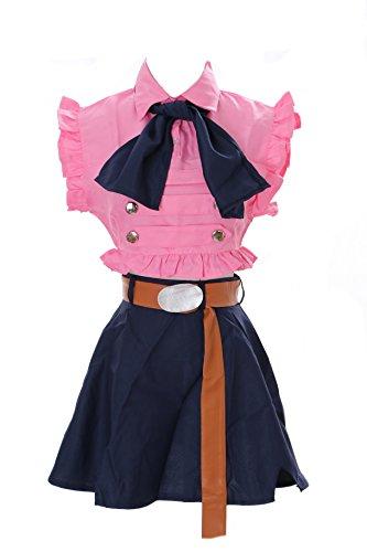 MN-24 Elizabeth The Seven Deadly Sins Pink Maid Set Anime Manga Cosplay Kleid Kostüm (Gr. XL)