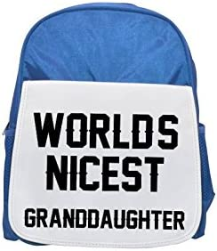 WORLDS NICEST Granddaughter printed kid's Bleu  backpack, Cute Cute Cute backpacks, cute small backpacks, cute Noir  backpack, cool Noir  backpack, fashion backpacks, large fashion backpacks, Noir  fashion backp 9b2e5c
