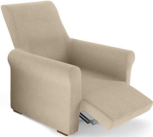 PETTI Artigiani Italiani - Sesselbezug, Sesselschoner, Sesselhusse, Sesselüberwurf, für Relaxsessel, Creme, 100% Made in Italy