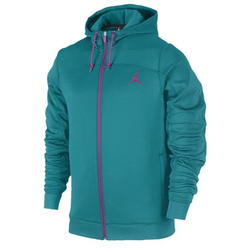Nike Herren Jordan S Flight OD Zip bis Hoodie-Teal/pink-medium
