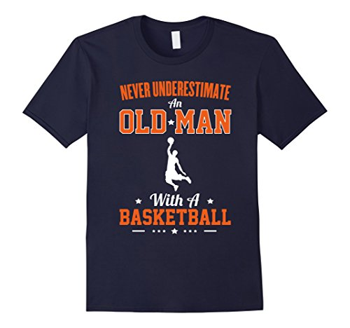 mens-never-underestimate-an-old-man-with-a-basketball-t-shirt-herren-grosse-l-navy