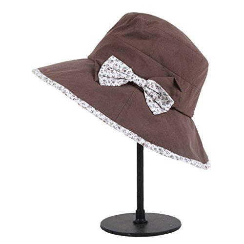 Été Béret Dame Pliage Loisirs Et Chapeau Tourisme Chapeau De Soleil brown