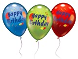 Karaloon 30021 - 6 Ballons Happy Birthday 28-30 cm, sortiert