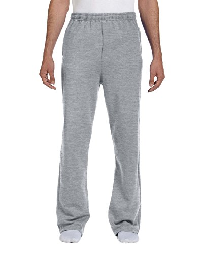 Adult 8 oz. NuBlend� Open-Bottom Fleece Sweatpants ATHLETIC HEATHER L Womens Open Bottom Sweatpants