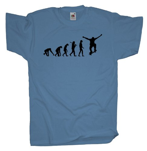 Ma2ca - Evolution - Skateboarder T-Shirt Skyblue