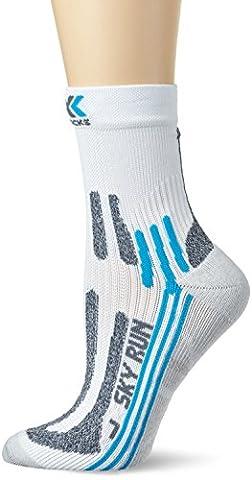 X-Socks run 2 adultes funktionssocken sky lady Multicolore Blanc/turquoise 39/40