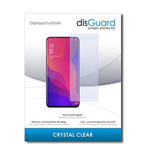disGuard® Bildschirmschutzfolie [Crystal Clear] kompatibel mit Oppo Find X [3 Stück] Kristallklar, Transparent, Unsichtbar, Extrem Kratzfest, Anti-Fingerabdruck - Panzerglas Folie, Schutzfolie