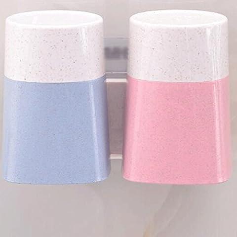 ZLR Modern Fashion No Perforation Brosse à dents Étagères Salle de bain Toilette Mur Lave Mousseline de boue Set Dents Cylindre siège de dents de salle de