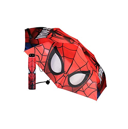 Takestop® - Paraguas Plegable diseño Spiderman Dibujos