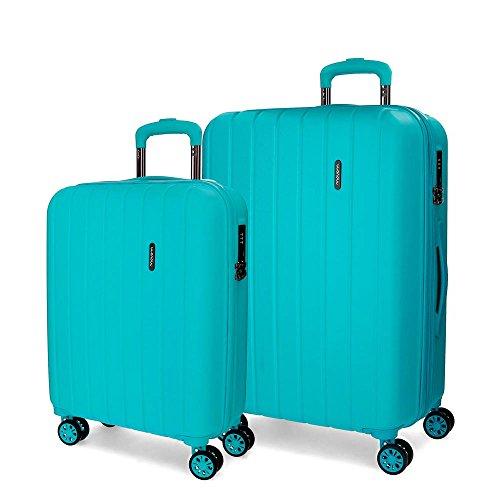 Movom Wood 5319567 Juego de Maletas, 65 cm, 111 Litros, Azul