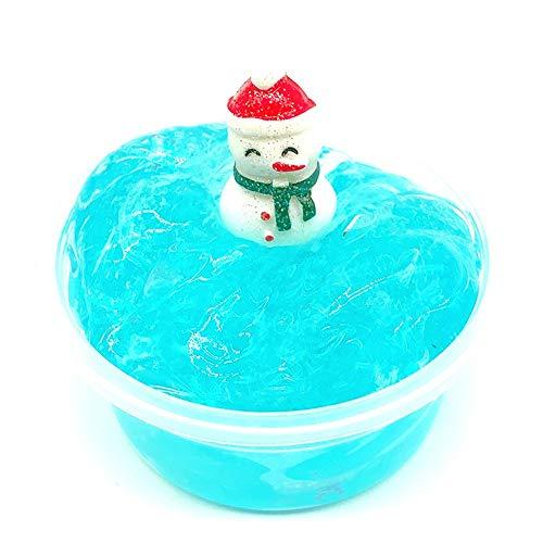 Dapei Blau Schneemann Kristall Schleim DIY Fluffy Schleim Duft Entlastung Charme Simulation Stressabbau Spielzeug für Kinder Erwachsene