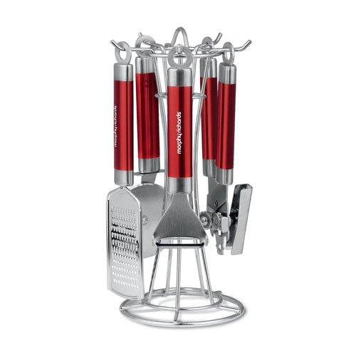 Morphy Richards 46811 - Utensilios de cocina, 4 piezas, color rojo