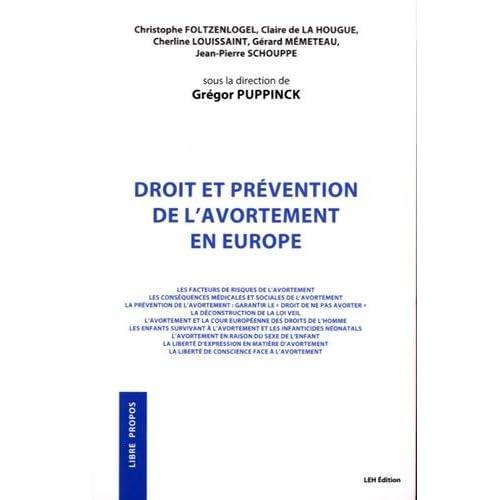 Droit et prévention de l'avortement en Europe
