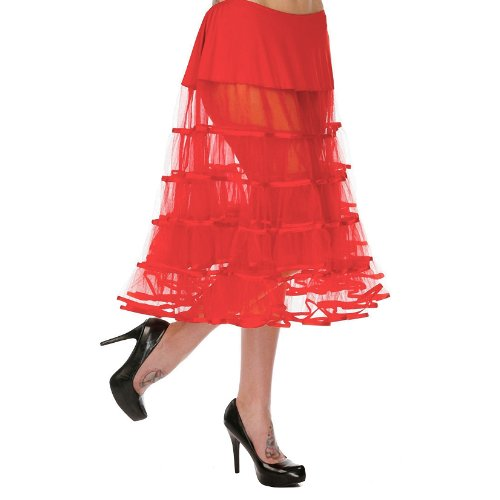 Voodoo Vixen Petticoat SEE THROUGH SKA3142 Rot one size