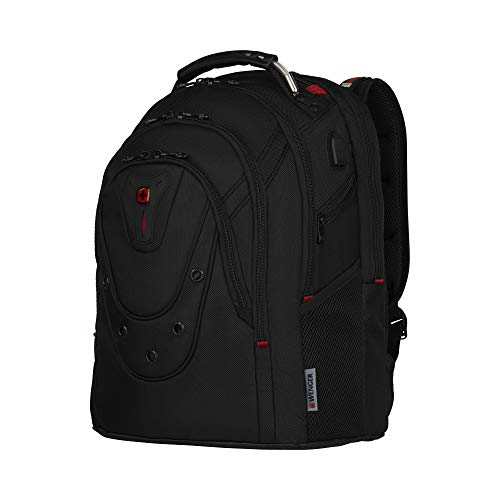 Wenger Ibex Deluxe Laptoprucksack - 14''-17'' Laptopfach 10'' Tabletfach USB-Stecker Damen/Herren- -