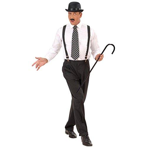 Mafia Kostüm Mottoparty - Amakando 20er Jahre Gehstock Charleston Spazierstock Mafia Gangster Tanzstock Fasching Party Dandystock Charlie Chaplin Tanzstab Retro Mottoparty Stützstock Karneval Kostüm Zubehör
