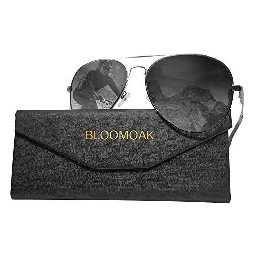 Bloomoak Pilot Polarisierte Herren-Sonnenbrille - Pilot polarisierte Sonnenbrille Herren Unisex UV400 Schutz (Polarisierte Sonnenbrille)