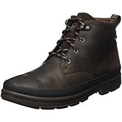 Clarks Rushwaymid GTX, Cargadores Clásicos Para Hombre, Marrón (Dark Brown Leather), 41.5 EU