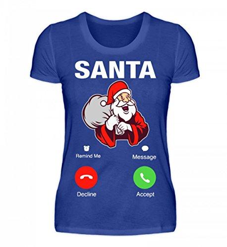 Hochwertiges Damen Premiumshirt - Weihnachten Geschenk Santa Calling Royal Blau