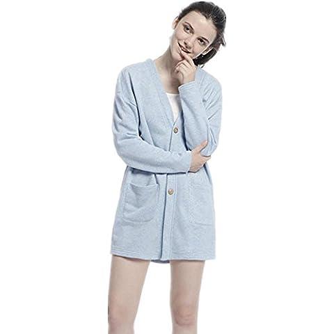 GJX Servizio a domicilio ladies nuovo maglia Cardigan manica lunga casa in autunnali e invernali cappotti