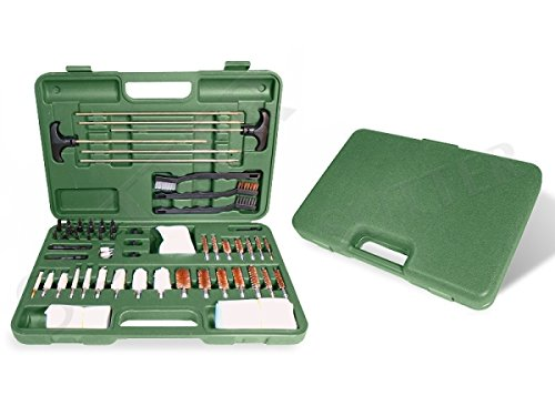 SUTTER Großes Premium Waffen Reinigungsset in stabilem grünen Koffer/Waffenzubehör zur Waffenpflege und Waffenreinigung