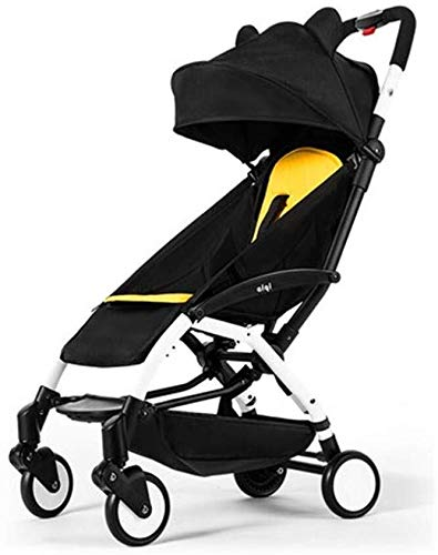 Wyyggnb Kinderwagen 3 in 1, Kinderwagen Kinderwagen, Babywagen Ultra Light Folding Kinderwagen Sit Lie Go On Board (Color : C)