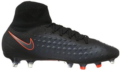 Nike Magista Orden Ii Fg, Scarpe da Calcio Uomo Nero (black/black-total Crimson)