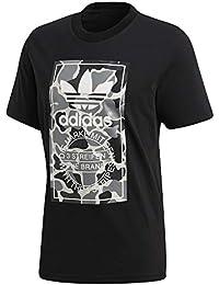 adidas Camo Label Camiseta, Hombre, Negro, L