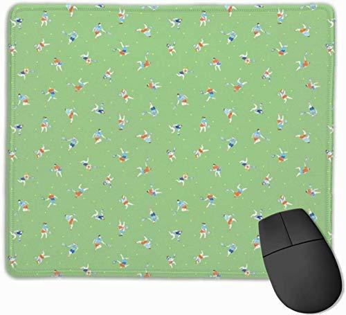 Tennis Madness Mauspad, rutschfest, für Computer/Laptop zu Hause und im Büro, 24,8 x 29,5 cm