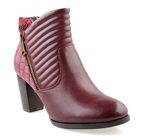 Eyekepper Chaussure cuir Synthetique / chaussures classique construction a glissiere femme a talon Bourgogne