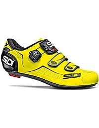SIDI - Zapatillas de Ciclismo de Material Sintético para Hombre Amarillo Amarillo Fluo