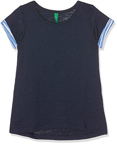 united-colors-of-benetton-t-shirt-bambina-blu-navy-6-7-anni-taglia-produttore-small