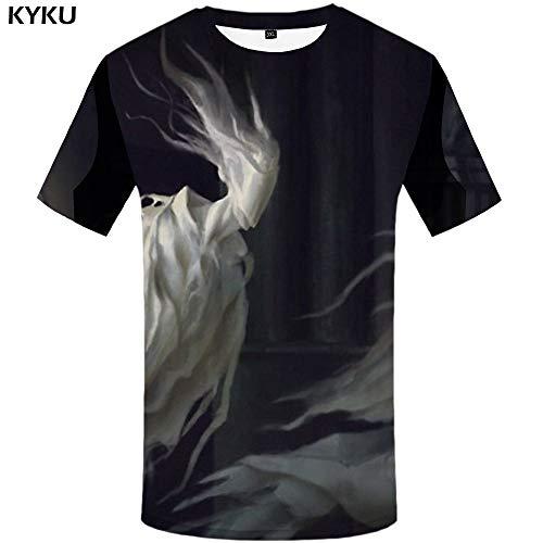 845874233d7 KYKU Halloween Tshirt Uomo T-Shirt Zucca 3D Party Hip Hop Tee Cosplay T-