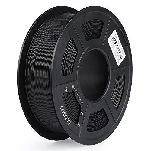 ELEGOO PLA Filament 3D Drucker 1,75mm 1kg Rolle für 3D Printer oder Stift ± 0,03mm Toleranz Schwarz