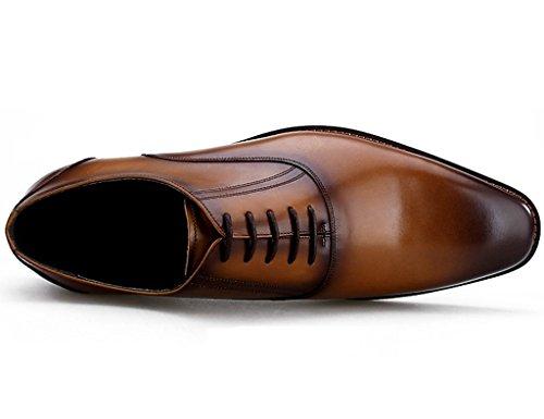 Scarpe Uomo in Pelle Scarpe da uomo in pelle British Style Formal Wear Business Piccola testa quadrata ( Colore : Caffe'colore , dimensioni : EU44/UK8.5 ) Marrone