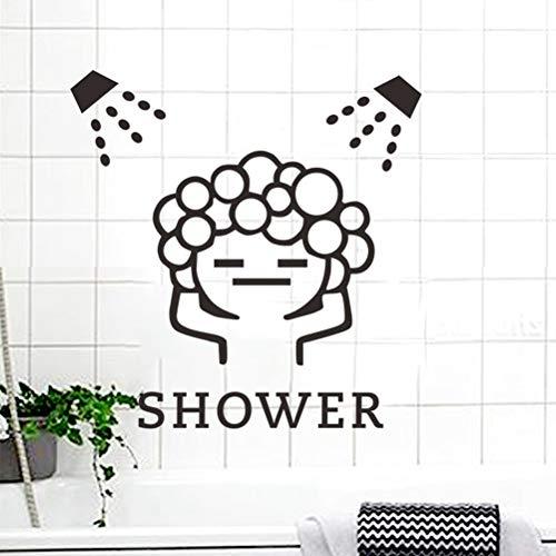 mer Wandtattoo Wohnzimmer Dusche mädchen badezimmer dekoration diy adesivos de paredes abziehbilder kunst fenster für dusche ()
