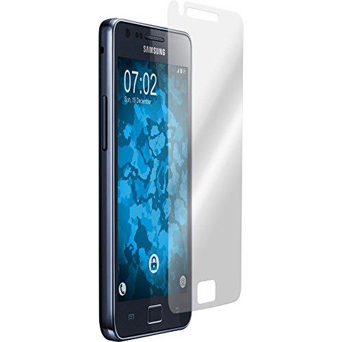 PhoneNatic 2er-Pack Displayschutzfolien klar kompatibel mit Samsung Galaxy S2 (Kamera Wand Klebt)