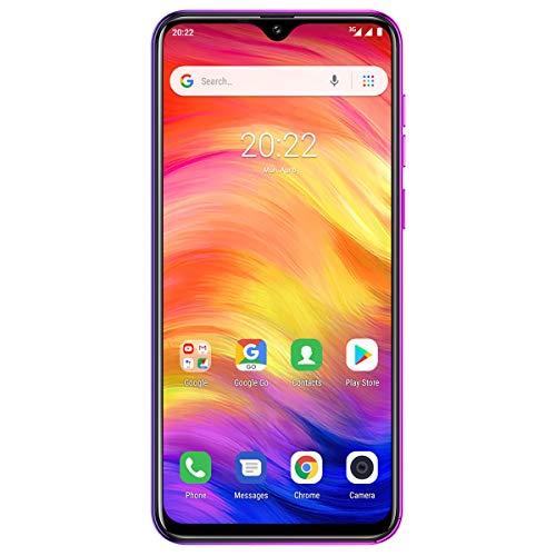 Ulefone Note 7 (2019) Simlockedfreie Handys Dreifach-Rückfahrkamera Smartphones entsperrt, 1GB+16GB Internal Speicher, 6,1-Zoll-Vollbild-Dual-SIM-Telefon für Android 9, Gesichtserkennung (Twilight)