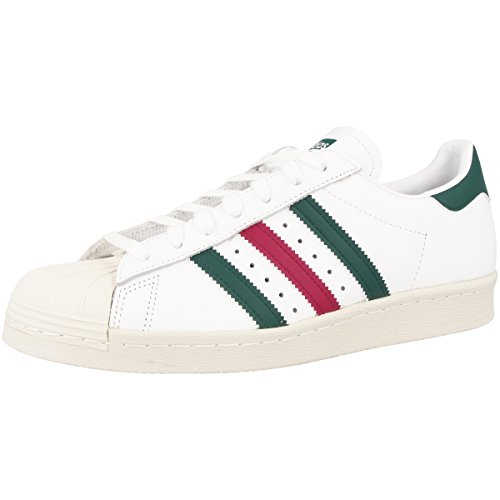 Adidas Herren Superstar 80s Outdoor Fitnessschuhe Calzature Bianco-collegiate Verde-mistero Rubino